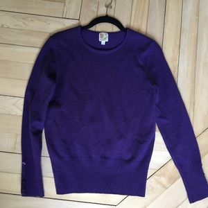 JM Collection petite purple sweater size small